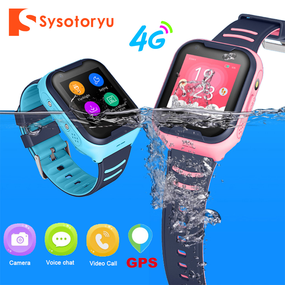 SYSOTORYU 4G Baby Smart Watch IP67 Waterproof GPS WIFI Kids watch SOS Video Call Children Smartwatch with Camera 680mAh Battery|Smart Watches|   - AliExpress