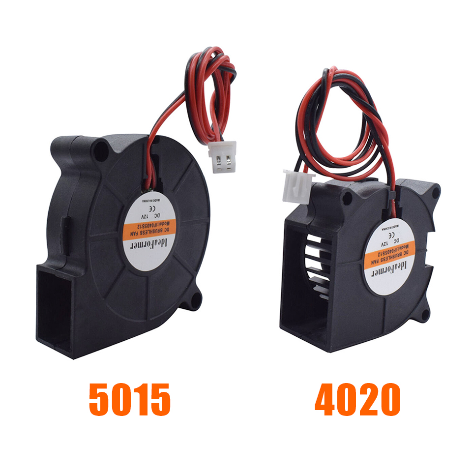 5015/<font><b>4010</b></font>/4020 12V&24V Cooling Turbo Fan Brushless 3D Printer Parts 2Pin For Extruder DC Cooler <font><b>Blower</b></font> Part Black Plastic Fans image