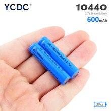 YCDC 2 / 4 /8Pcs 10440 Batterie 600mAh 3,7 V Lithium-AAA Batterien Taste Top