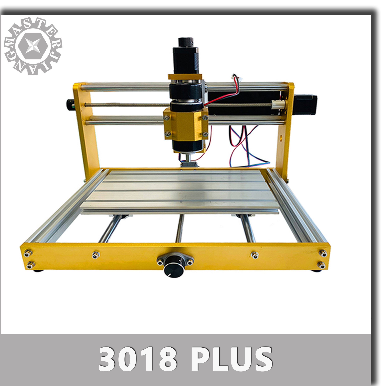 CNC 3018 Plus Metal Frame Engraver GRBL DIY Pcb Milling Machine, Nema 17/23 Stepper 52mm 300/500W Spindle,Carved On metal.