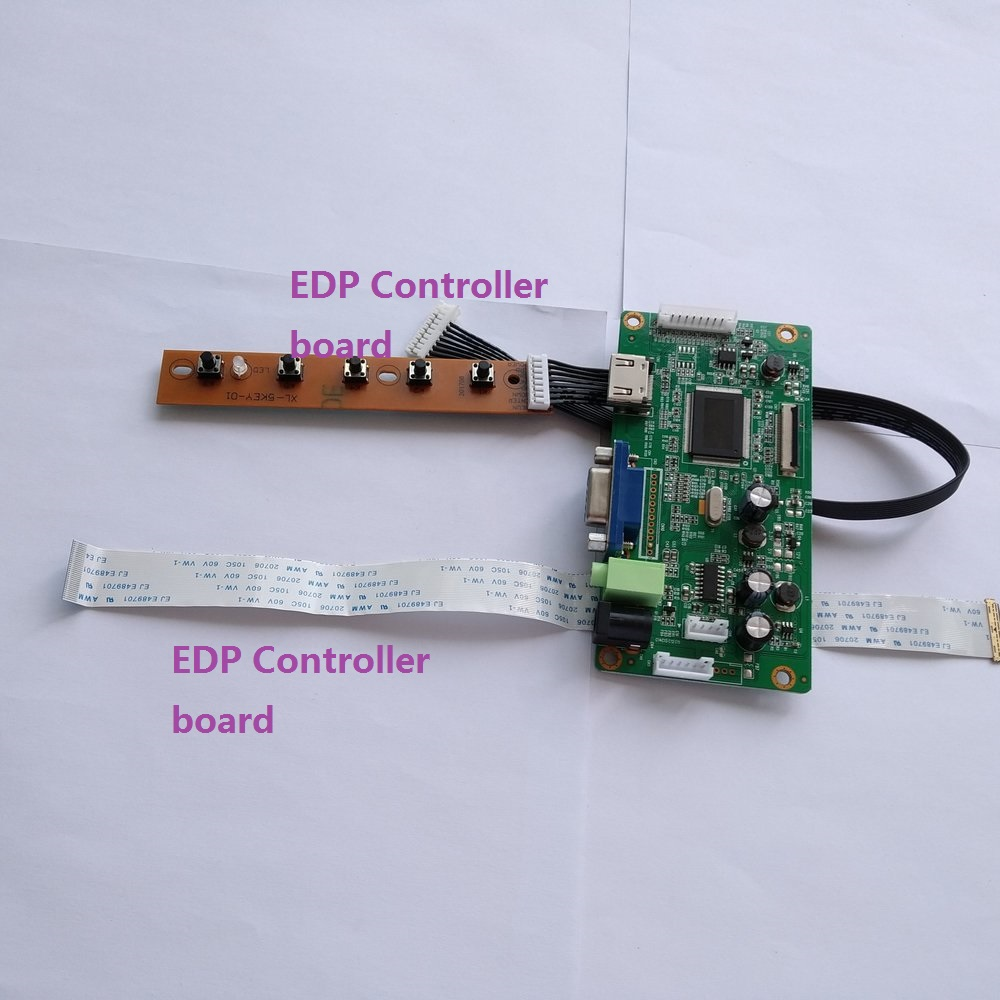 VGA EDP HDMI TP F1 LCD  Controller board lvds Kit for LED Panel LP125WH2
