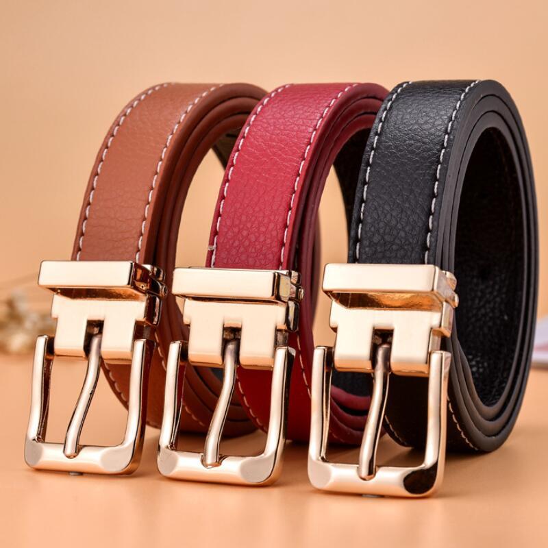 Kids Belts Strap Hight Quality Luxury Brand Fashion Children's Belt Boys Girls Pin Buckle Pants Belts Waistband 80CM 90cm