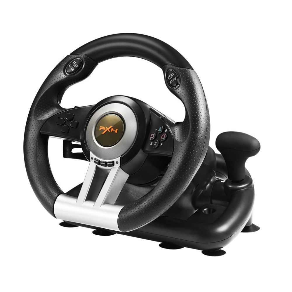 PXN V3II гоночный руль с педалью тормоза для ПК/PS3/PS4/XBOX ONE/SWITCH