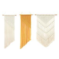 Czeski pomponem liny bawełniane gobelin niestandardowe dekoracje ścienne Ins Nordic ręcznie tkane gobelin ścienny malarstwo Macrame wiszące w Dekoracyjne gobeliny od Dom i ogród na