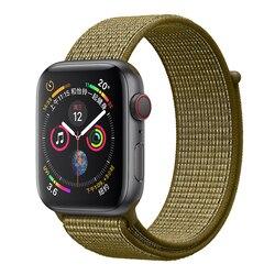 Nylon Sport Schleife Replacment Band für Apple Uhr Serie 5 1 2 3 Leichte Weiche Atmungsaktive Woven Strap iwatch 44mm 40mm 38 42mm