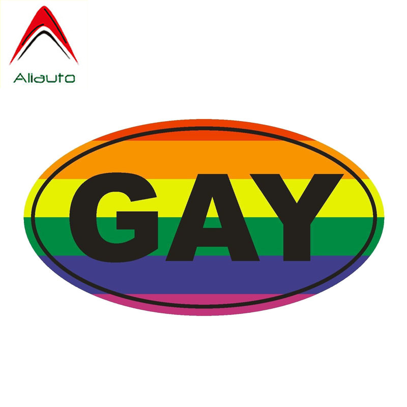 Aliauto Personality Car Sticker Gay Euro Oval Funny PVC Waterproof Decal For Motorcycle Honda Toyota Renault Opel Seat,15cm*8cm