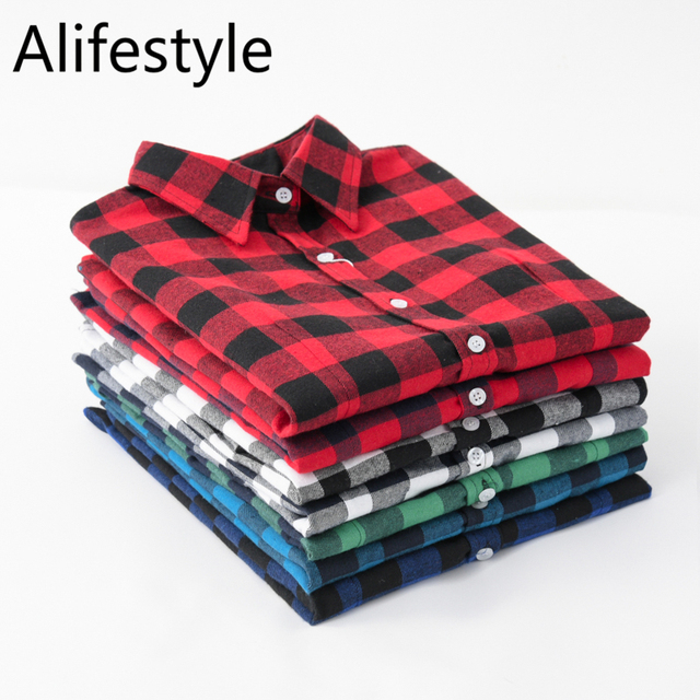 2020 New Women Blouses Brand New Excellent Quality Cotton 32style Plaid Shirt Women Casual Long Sleeve Shirt Tops Lady Clothes 2