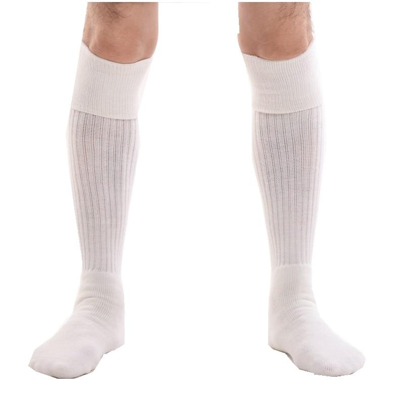 Men Kilt Socks White Black Knee Length Hose