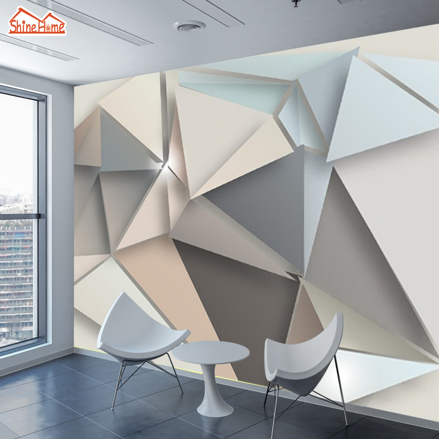 3d Photo Wallpaper Wallpapers For Living Room Mural Glitter Wall Papers Home Decor Vinyl Peel And Stick Abstrack Brick Geometry