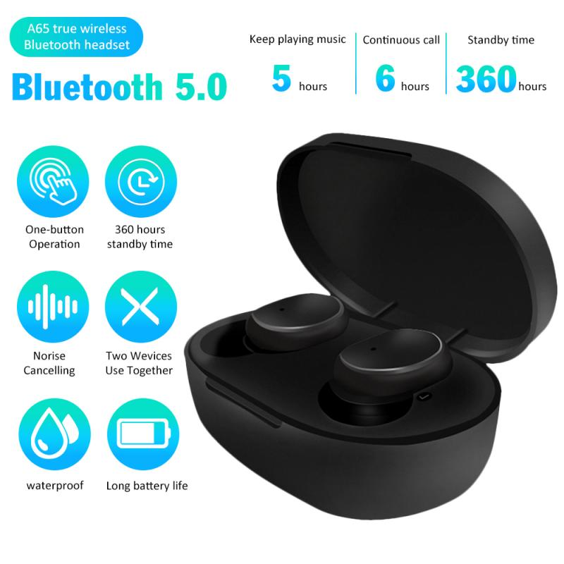 A6S TWS Bluetooth Earphone For Xiaomi Airdots Wireless Headphone Stereo Headset Mini Earbuds For Redmi IPhone Huawei Samsung