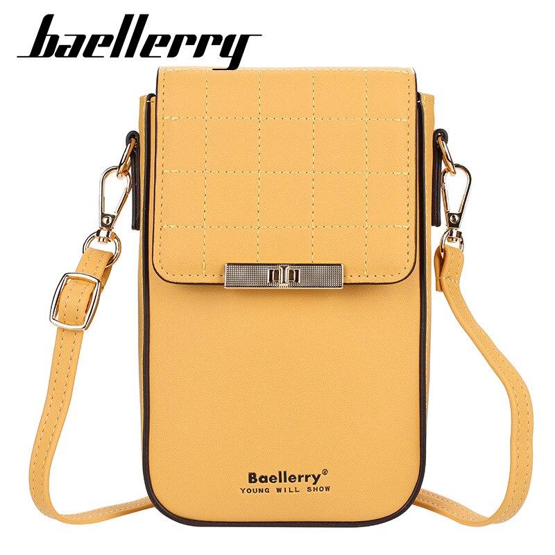 Baellerry Designer Small Shoulder Bag Women PU Leather Phone Pocket Purse Bag Ladies Mini Crossbody Messenger Bags Female Wallet
