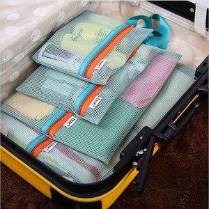 4Pc Travel Storage Bag Set Por