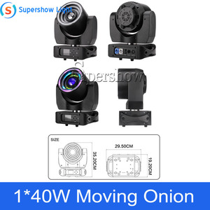 Image 5 - Stage Light Moving Head Lighting 1*40W RGBW 4in1 +76*0.2W SMD RGB Moving Onion for Disco Event Bar Party Decoration