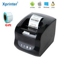 Xprinter Label Barcode sticker printer Thermal Receipt printer 2 In 1 Print Bill Machine 20mm-80mm for Android iSO windows