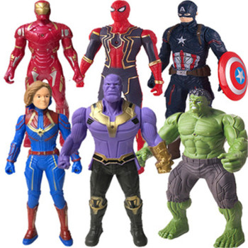Marvel Toys Ultimate SpiderMan Hulk Captain America Iron Man PVC Action Figure Collectible Model Toy for Kids Children's Toys 7 8 neca predator ultimate 30th anniversary jungle hunter pvc action figure jungle hunter unmasked collectible model doll toys