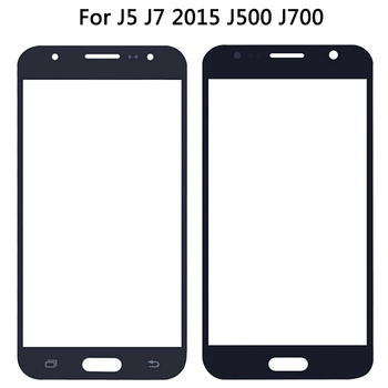 New LCD Front Glass Lens For Samsung Galaxy J5 J7 2015 J500 J500H J700 Touch Screen Panel Digitizer Outer Glass Lens image