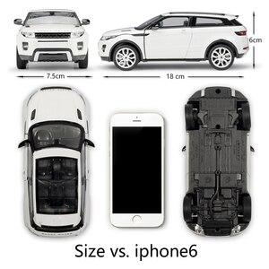 Image 2 - מגף דגם רכב 1:24 Scale Diecast רכב לנד רובר ריינג רובר Evoque SUV סימולטור מתכת סגסוגת צעצוע מכונית עבור ילד מתנת אוסף