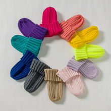 Children's knitted hat parent child  new autumn and winter Korean fashion solid color curled boys and girls' warm wool hat
