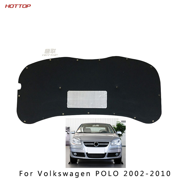 Front Engine Anti-noise Sound Insulation Cotton Heat Closed Cell Foam For Volkswagen VW Polo 2002-2009