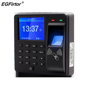Security Alarm Fingerprint ID Card Password Door Access Control Machine with LCD Screen Smart Door Bell