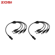 ZOSI DC 1 To 4 Power Splitter Cable BNC Connector Cable for CCTV Kit Security Cameras Video Surveillance System