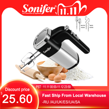 5 سرعات 500 واط عالية الطاقة الكهربائية خلاط طعام خلاط يدوي العجين خلاط خافق البيض خلاط يدوي للمطبخ 220 فولت Sonifer