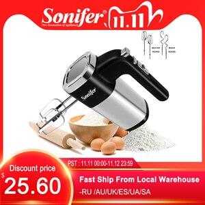 Image 1 - 5 prędkości 500W High Power elektryczne mieszadło do żywności Blender ręczny Blender trzepaczka do jajek mikser ręczny do kuchni 220V Sonifer