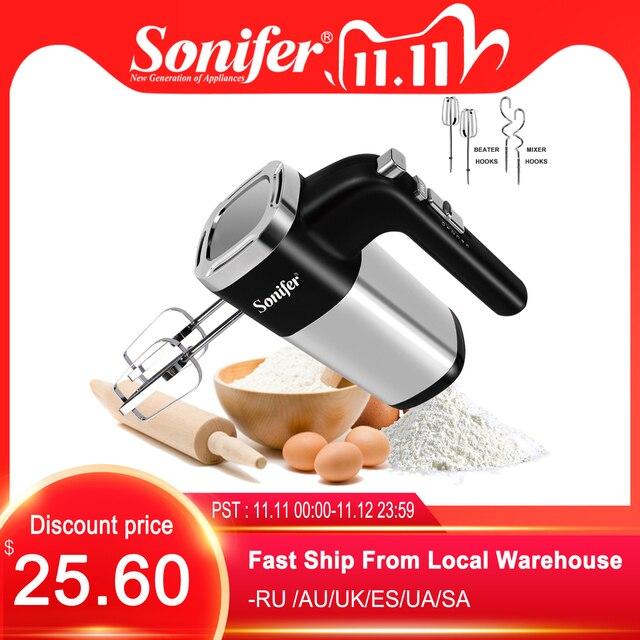 5 prędkości 500W High Power elektryczne mieszadło do żywności Blender ręczny Blender trzepaczka do jajek mikser ręczny do kuchni 220V Sonifer