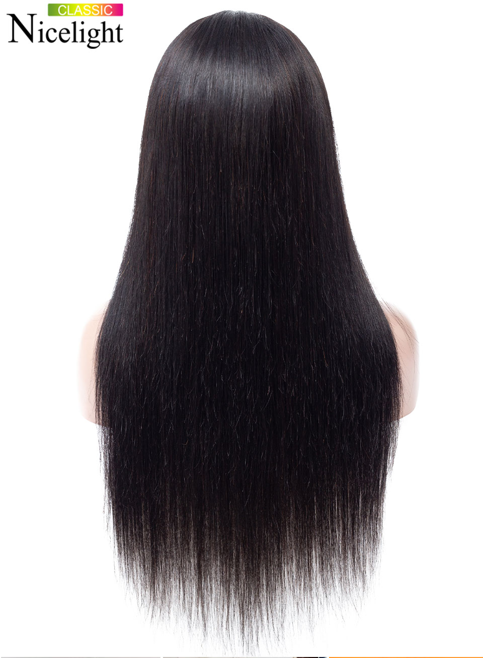 H39cc4ad1f17a4bae9eedcdb834677a6fe Straight Closure Wig Human Hair Wigs With Closure 4X4 Lace Wig Nicelight Indian Wig Remy Natural Hair Long Black Closure Wig