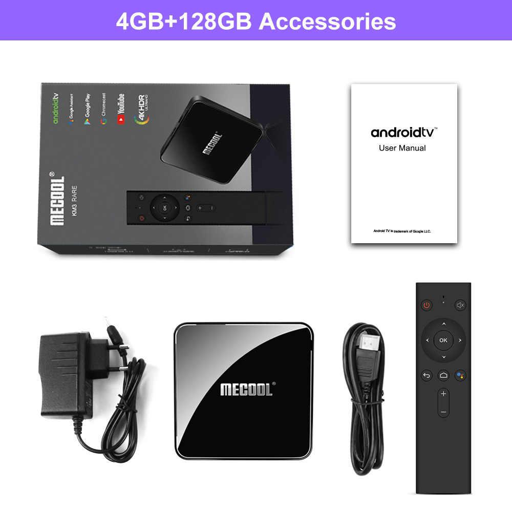 Mecool KM3 ATV Androidtv Google Bersertifikat TV Box Android 9.0 4GB 64GB Amlogic S905X2 4K Dual WIFI set Top Box KM9 Pro 2/16 4/32G