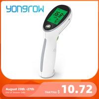 Yongrow-Termómetro infrarrojo, pistola láser para medir temperatura portátil, digital, sin contacto, para bebés, niños, adultos, temperatura superficial