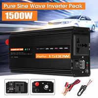 Onduleur 12V 220V 1500W solaire onde sinusoïdale Pure DC12V/24 V/48 V à AC220V 50HZ convertisseur de puissance Booster pour voiture onduleur ménage bricolage