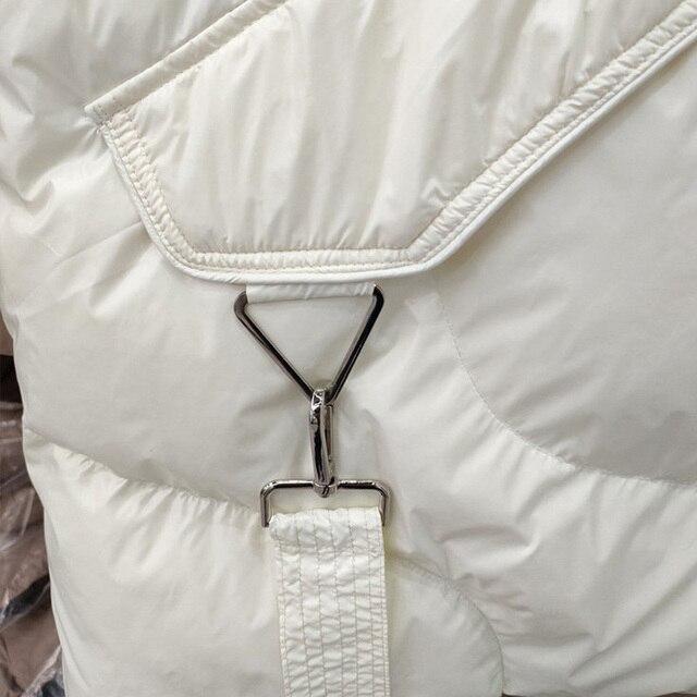 FMFSSOM Loose Causal  90%  White Duck Down Jacket Women Sleeveless Asymmetric Length Beige Spring Autumn Windpoof Basic Outwear 3