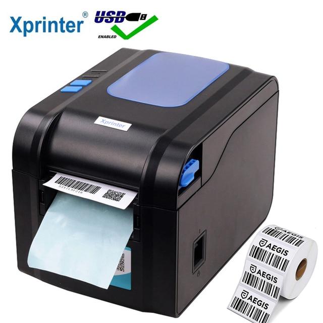 Xprinter Label Barcode Printer Thermal Receipt Label Printer Bar Code QR Code Sticker Machine 20mm 80mm Auto Stripping 370B