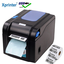 Xprinter 라벨 바코드 프린터 열 영수증 라벨 프린터 바코드 QR 코드 스티커 기계 20mm 80mm 자동 스트리핑 370B