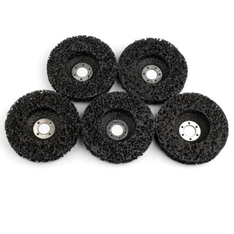 Aletler'ten Parlatma Pedleri'de 5 adet aşındırıcı aletler 115Mm şerit tekerlekleri boya pas temizleme Clean açılı taşlama diskleri araçları açı öğütücü için title=