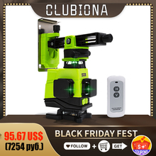 Clubiona IE16 Professional German Core Floor and Ceiling Remote control 4D Green Line Laser Level with 5000mah li ion battery