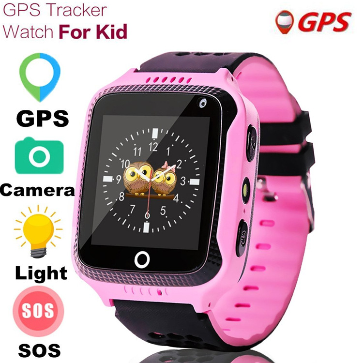 New Q528 Children GPS Smart Watch With Flashlight Baby Watch 1 44inch SOS Call Location Device Tracker for Kid Safe watches