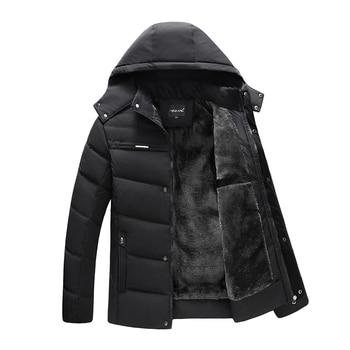 Men Jacket Coats Thicken Warm Winter Windproof Jackets Casual Mens Parka Hooded Outwear Cotton-padded Jacket