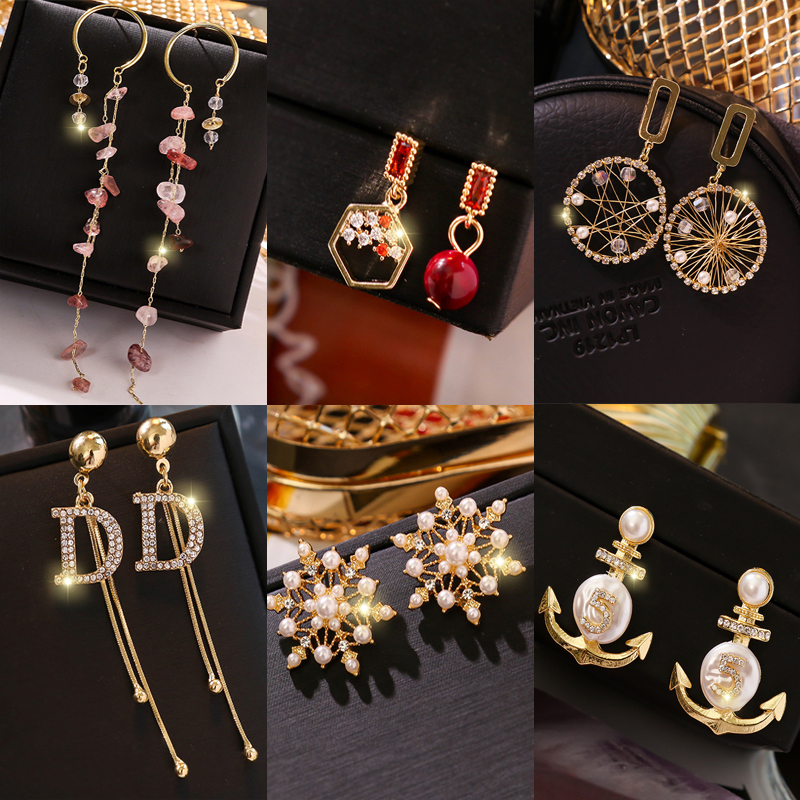 Tassel Earrings NEW Luxury Drop  Jewelry Earrings Fashion Collocation Acrylic Big Earrings For Women 2019 Statement
