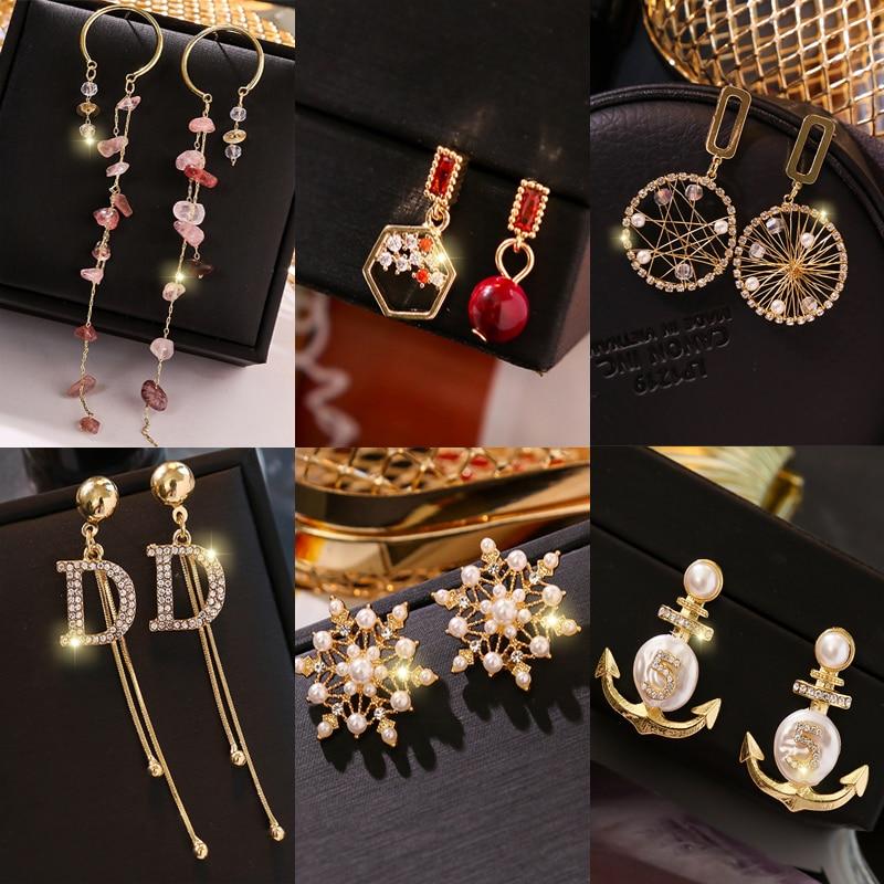 Tassel Earrings NEW Luxury Drop  Jewelry Earrings Fashion Collocation Acrylic Big Earrings For Women 2019 Statement