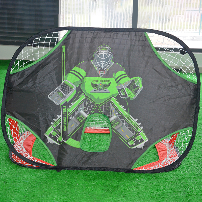 Hockey Gate estable y duradero portátil Hockey Oxford Goal doble lado plegable multifuncional ejercicio entrenamiento Hockey sobre hielo Oxford