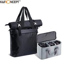 """K & F Concept Camera Schouder Zwarte Tas 3 In 1 Waterdichte Reistas Voor 15.6 """"Laptop Camera Lenzen en Fotografie Accessoires"""