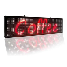 P10 Red led Sign 26''x8'' with WiFi Connection Scrolling Message led Sign for Business Programmable Message Display