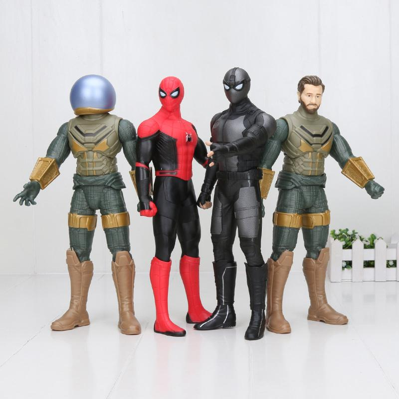 30cm Spider-Man: Far From Home Figure Spiderman Peter Park Mysterio Quentin Beck Black Suit Spider Man PVC Figure Model Toy
