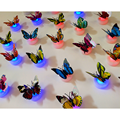 Colorful Luminous Butterfly LED Night Light Glow in the Dark Wedding Party Decoration Room Christmas Decor Lamp Sticker Children
