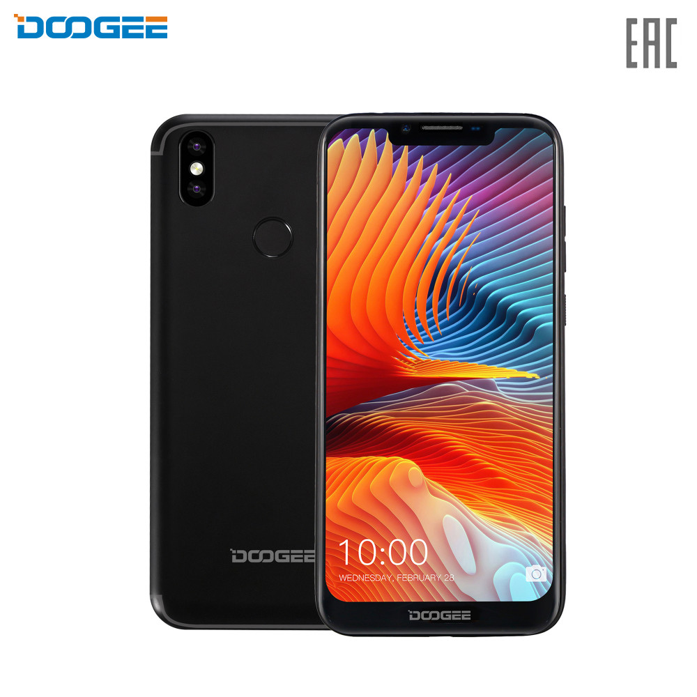 Mobile Phones Doogee BL5500lite Phone smartphone smartphones pure android capacious powerful battery fingerprint scanner Nfc 2+16GB 6.19'' 19:9 1500х720 1.5GHz 4 Core up to 64GB flash
