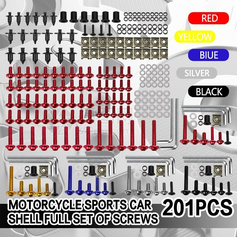 201 PCS Motorcycle Fairing Bolt Screw Nut Clip Kit Bodywork for CBR600RR CBR600 F2 F3 F4 F4I F5 CBR929/954 CBR1000RR