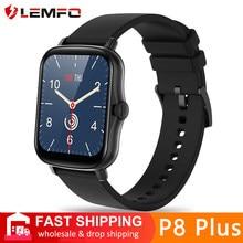 LEMFO-reloj inteligente pk P8 Plus para hombre y mujer, accesorio de pulsera resistente al agua IP67 con seguimiento de actividad deportiva, pantalla completamente táctil de 2021 pulgadas, GTS 2 2e, 1,69