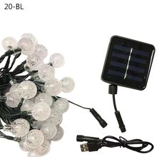 20/30 LEDs Solar Power Bubble Balls String Light USB Charging  Party Holiday Q84D for LED